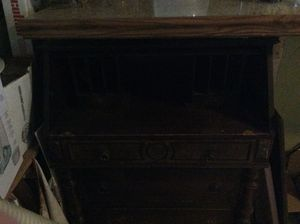 Antique desk, notched drawers for Sale in Fresno, CA