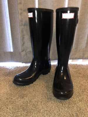 Real Black Hunter Rain Boots for Sale in Glendale, AZ