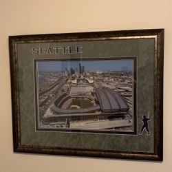 Seattle Mariners Seahawks Safeco and Seahawks stadium Portrait for Sale in Seattle,  WA