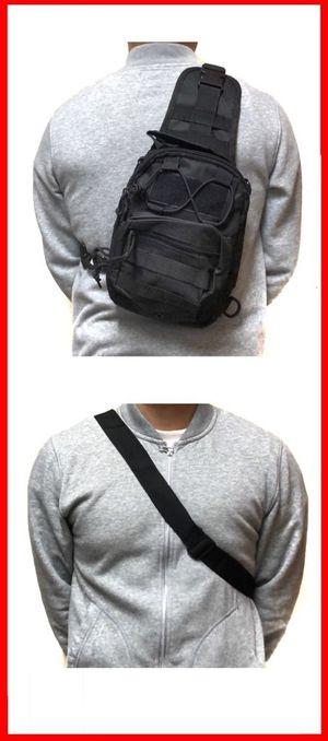 Brand NEW! Black Tactical Crossbody/Shoulder/Side Bag/Messenger/Sling For Work/Traveling/Sports/Gym/Hiking/Camping/Fishing/Biking $20 for Sale in Carson, CA