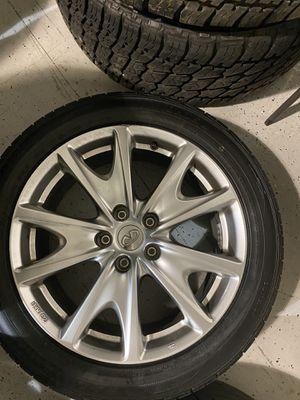 2010 Infiniti G37s stock rims staggered Front 18″ diameter, 7.5″ width; rear 18″ diameter, 8.5″ width for Sale in Richmond, VA