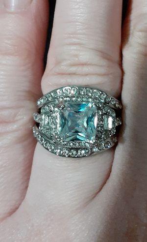 Sterling Silver Princess Cut Ring Set for Sale in BELLEAIR BLF, FL