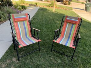 Suspension Folding lawn chairs (2) for Sale in Encinitas, CA
