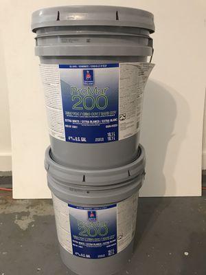 Promar 200 5gl buckets eggshell white $50.00 each non negotiable.. for Sale in Atlanta, GA