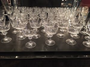Set , wine, water and dessert crystal glassware for Sale in Silver Spring, MD