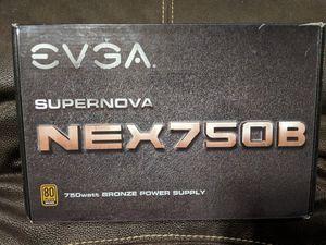 EVGA Supernova NEX750B 750watt Bronze Power Supply. for Sale in Pooler, GA