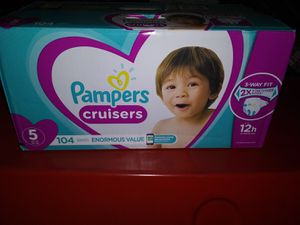 Pampers Cruisers Size 5 104 Count Brand New for Sale in San Bernardino, CA