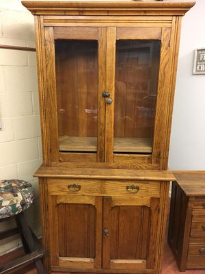 Very old antique dining hutch and side table for Sale in Hermosa Beach, CA