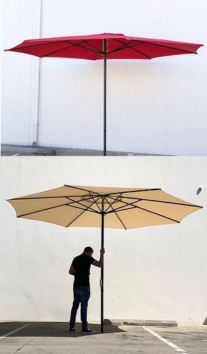 New $55 each Outdoor 13' ft Patio Umbrella Sun Shades Market Garden Deck (Tan, Red, or Green) for Sale in South El Monte, CA