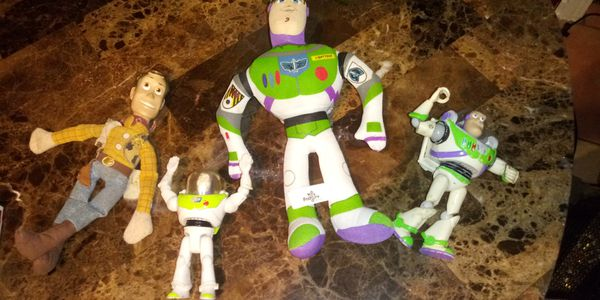 Toy Story 1 woody and 3 buzz lightyear dolls action figures