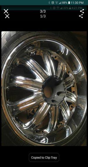 22 inch chrome wheels for Sale in Canton, GA