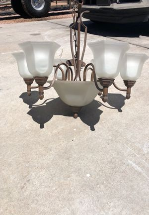 Metal and Frosted Glass Chandelier for Sale in Payson, AZ