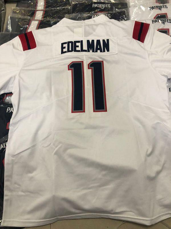 Patriots #11 Edelman & #1 Newton Jerseys
