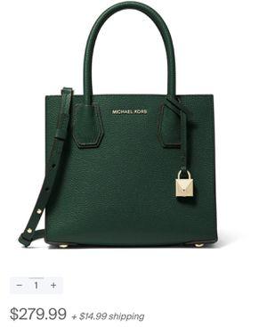 Michael Kors Mercer Medium Messenger bag. Teal or forest green. Brand new never used still in packaging. Original price $279.99 will sell for $210 e for Sale in Boston, MA