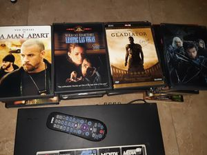 DVD PLAYER with 50 DVD movies w/ control, usb, HDMI for Sale in Miami, FL