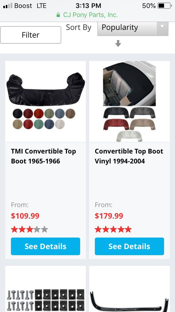 Car Convertible boot