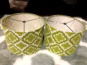 2 LAMP TOPS!! FITS MOST LAMPS!!!!💚💛 for Sale in San Francisco, CA