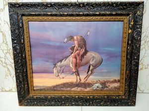 """""""End of the Trail"""" framed American Indian Portrait for Sale in Monroeville, PA"""