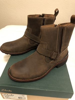 Brand new Size 8 Men's Clarks Rugged Boot. Runs 1 size bigger. My price is $75, regular price is $170 for Sale in Castro Valley, CA