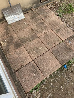 48 sq ft red stone pavers for Sale in Pottstown, PA