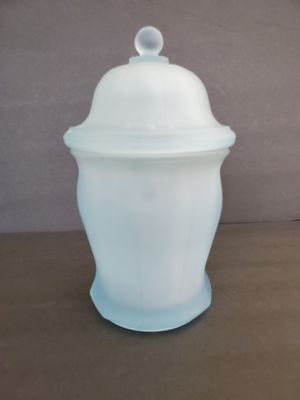 Blue Frosted Satin Glass Ginger Jar for Sale in Midland, MI
