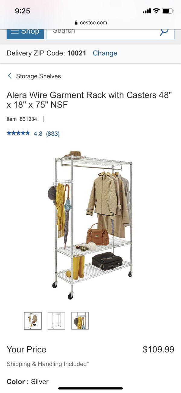 "Like new Fully Assembled Storage rack 46"" Wide x 17.5"" Deep x74"" Tall"