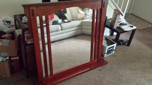 Large wood framed mirror for Sale in Peoria, IL