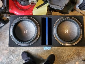 Subwoofer Box for 12 in Subs. BOX ONLY for Sale in Monsey, NY