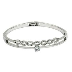 Silver disposition wave circle crystal bracelet for Sale in Redwood City,  CA