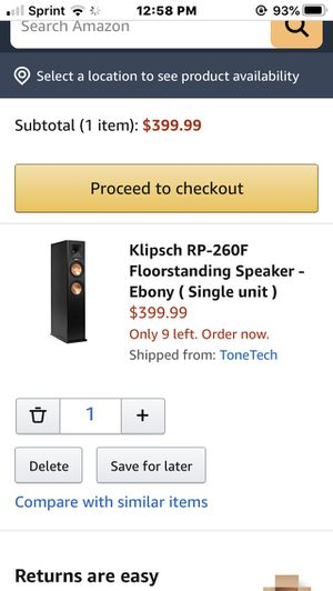Klipsch RP260F for Sale in Virginia Beach, VA
