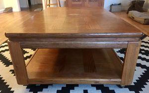 Coffee Table, solid oak for Sale in Camas, WA