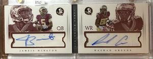 2015 National Treasures Jameis Winston Rookie Rashad Greene Dual booklet auto 1725 for Sale in Lock Haven, PA