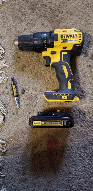 DeWalt 20v MAX Drill w/Lithium Battery/Like NEW for Sale in Lowell, AR