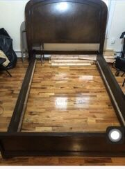 Ashley's Furniture Queen Size Bed Frame with Wooden Planks for Sale in The Bronx, NY