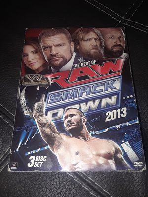 WWE RAW 2013 DVD SET SMACK DOWN for Sale in Pittsburg, CA