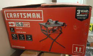 CRAFTSMAN 10-in Carbide-Tipped Blade 15-Amp Table Saw / Sierra de mesa, hoja con punta de carburo, 10 pulgadas 15 Amp for Sale in Las Vegas, NV