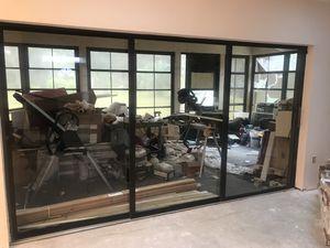 3 panel sliding glass door 144x80 for Sale in Apopka, FL