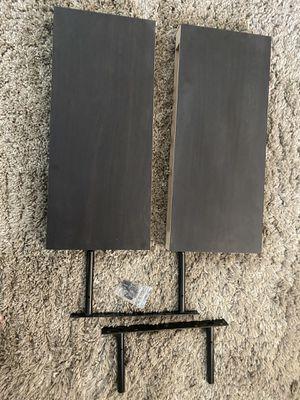 Dark brown wooden shelves (2) for Sale in Spring Valley, CA