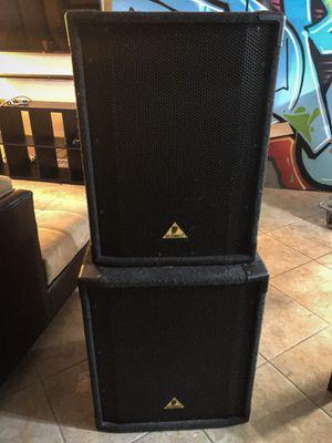 """15"""" Behringer Eurolive B1520 2-Way PA Loudspeaker & 18"""" Behringer Eurolive B1800X Pro Subwoofer for Sale in Miami Beach, FL"""