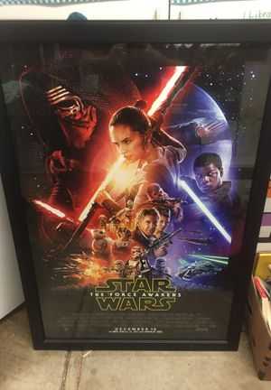 Star Wars The Force Awakens DS framed poster for Sale in Pleasanton, CA