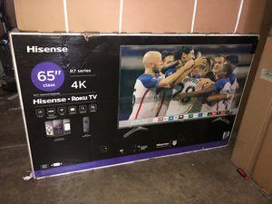 65 Hisense Smart 4k roku led uhd hdr Tv for Sale in Norwalk, CA