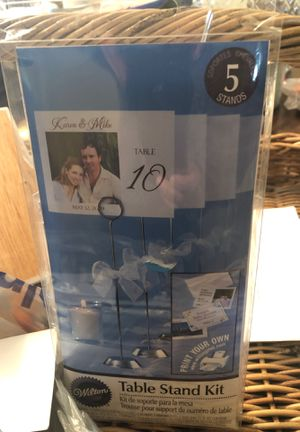 Bags of wedding table numbers for Sale in Herndon, VA