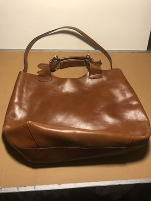 ZARO Large Leather tote bag with pouch for Sale in Queens, NY