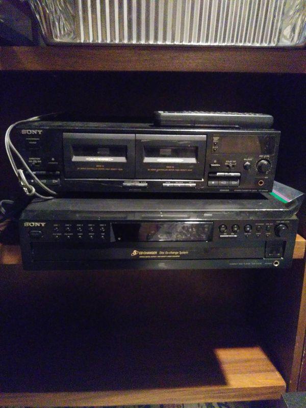 Sony 5-disc CD changer & dual cassette