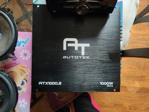 Radio, Highs and amp $250 obo for Sale in Chicago, IL