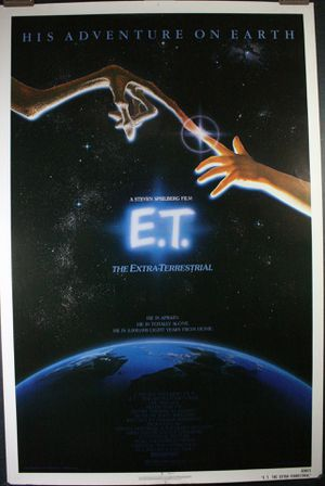 "Original Vintage 1982 ""E.T."" Movie Theater One Sheet Poster rolled & in Good Condition! for Sale in Traverse City, MI"