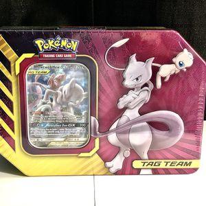 Mewtwo & Mew GX Tag Team Partnership Tin POKEMON Trading Cards for Sale in Modesto, CA