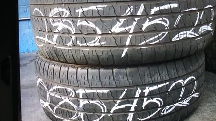 Used tire 285 45 22 each instaled includes ELMOFLES for Sale in City of Industry,  CA