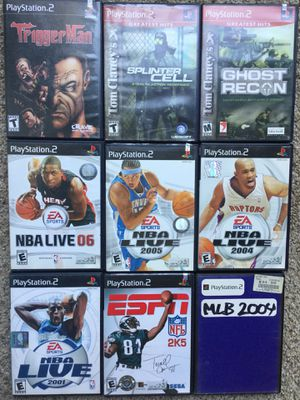 PS2 ~ PlayStation 2 Bundle / Lot of 9 Games ~ Check out my Page 😊 for Sale in Fresno, CA