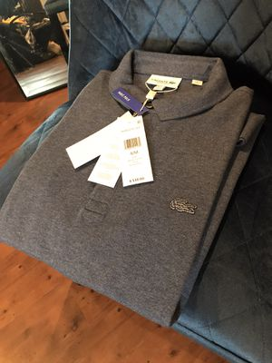 Lacoste polo men's shirt new blue nike Gucci 40$ medium and small for Sale in Austin, TX